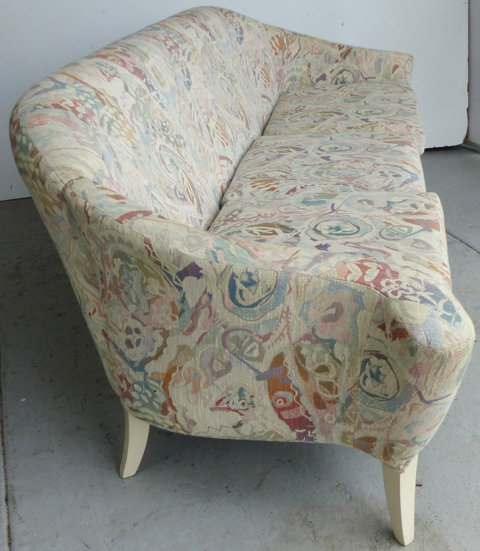 Mid-century Thayer Coggin Curved Upholstered Sofa - 2