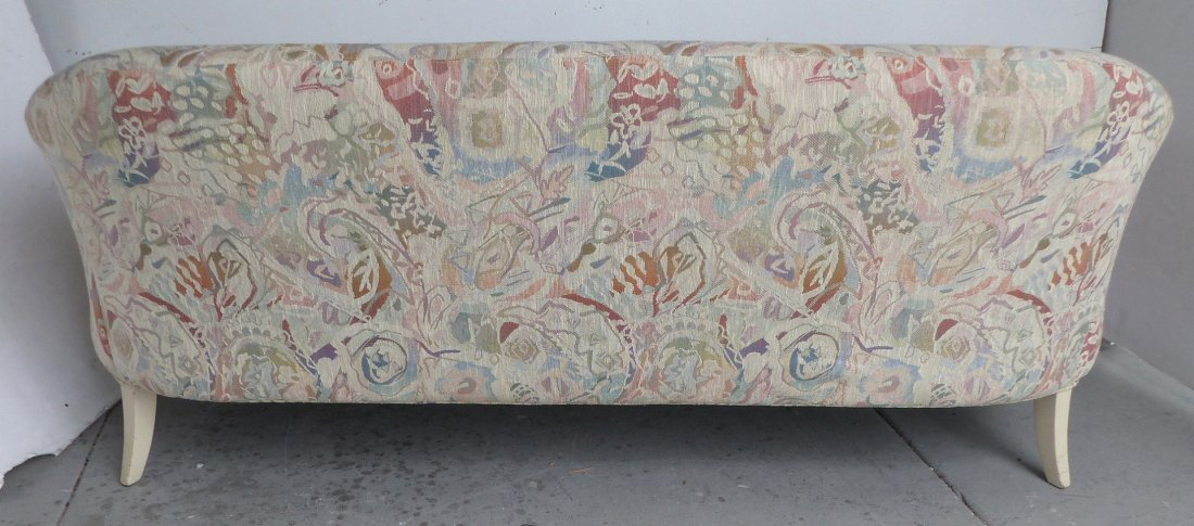 Mid-century Thayer Coggin Curved Upholstered Sofa - 7