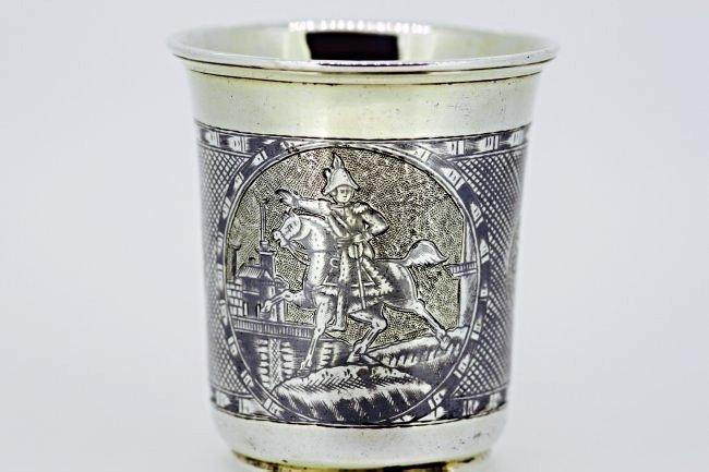 RUSSIAN NIELLO SOLID SILVER CUP