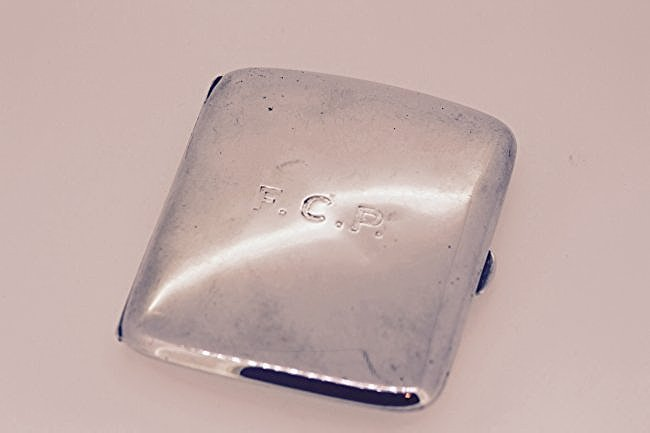 Sterling Silver Cigarette Case 1917