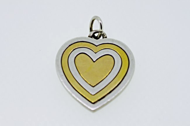 GUCCI HEART 9ct GOLD AND 925 SILVER