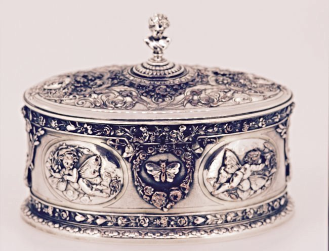Silver Plated Tea Caddy by Elkington And Co