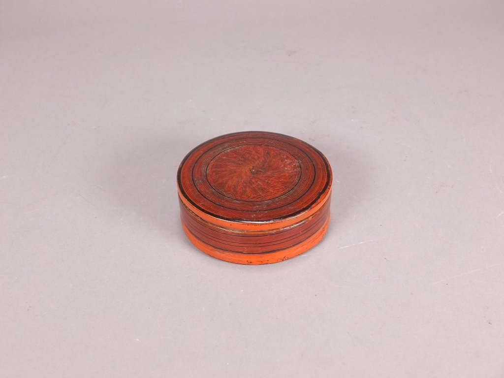 $10 Antique round lacquer cover box