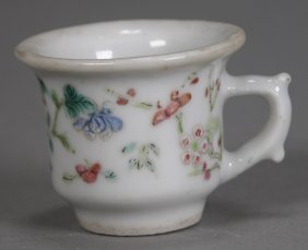Antique Famille Rose Porcelain Cup