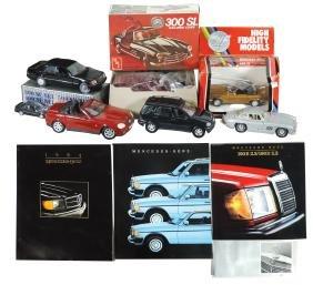 Toy cars/literature (7), AMT-Mercedes, metal/plastic
