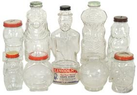 Children's Banks (9), Figural Glass Containers-Lucky