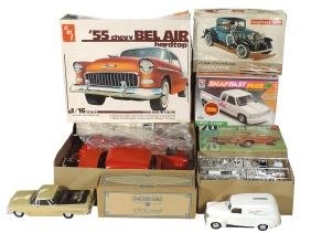 Toy cars/trucks (6), all Chevrolet, AMT kits (3)-1970