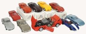 Toy cars (10), Corvettes, Burago diecast 1/18 scale