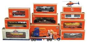 Toy train cars w/boxes (10), Lionel (1996), box cars,