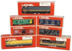 Toy train cars/engines w/boxes (7), Lionel Rio Grande,