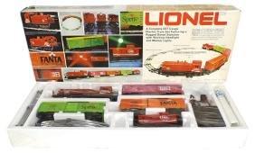 Toy train set, Lionel 027 Gauge, Coca-Cola theme, box