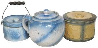 Stoneware (3), Blue & White Boston Baked Beans pot