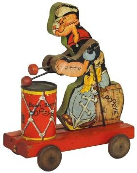 Toy, Fisher-Price Boom-Boom Popeye, #491, c.1929, VG
