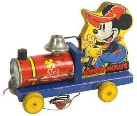 Toy, Fisher-Price Mickey Mouse Choo-Choo #432, c.1938,