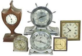 Clocks (6), marked Seth Thomas, Lux Maritime, Commander