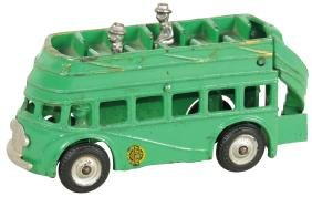Toy bus, Arcade cast iron double-decker, cab over