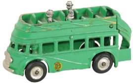 Toy bus, Arcade cast iron double-decker, cab over