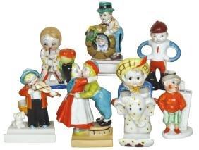 Children's toothbrush holders (7), painted ceramic