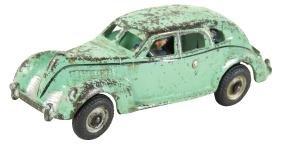 Toy car, Arcade Studebaker taxi w/driver & passenger,