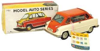 Toy car, Zuendapp Janus #751, made in Japan, litho on