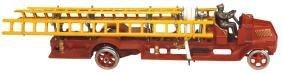 Toy fire truck, Arcade Mack ladder truck w/open cab &