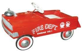 Children's pedal fire truck, Fire Dept Engine Co. #1,