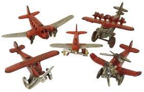 Toy airplanes (5), 4 Hubley: Dornier DO-X, c.1930;