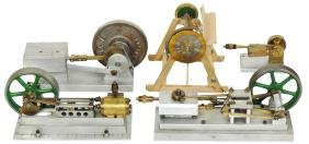 Miniature hand-built compressed air engines & saw (5),