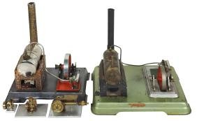 Miniature hand-built compressed air engines & steam