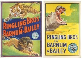 Circus posters (2), Ringling Bros and Barnum & Bailey