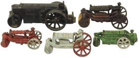 """Toy road rollers (5), Arcade #291, Hubley """"Huber"""" & 3"""