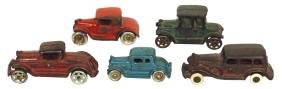 Toy cars (5), Arcade Ford Model A coupe, prof repainted;