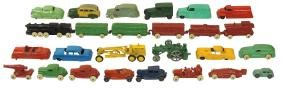 Toys (26), KT & N RR 6-pc train; Tootsietoy U.S. Mail