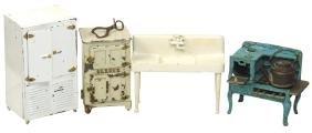 Toy furniture, etc. (6), Arcade sink, kitchen cupboard,