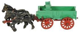 Toy horse-drawn wagon, Arcade McCormick-Deering grain