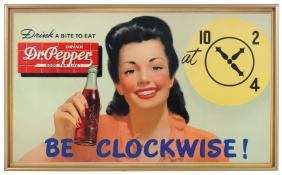 Soda fountain signs (2), Dr. Pepper, both cdbd, one