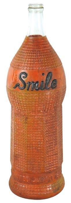 Soda fountain oversized display bottle, Smile Soda,