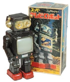Toy robot, New Space Explorer with box, Japanese