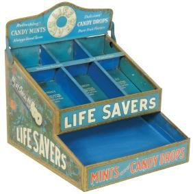 Country store display, Life Savers, tiered metal