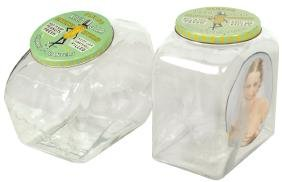 Country store peanut jars (2), both Planters embossed