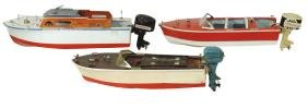 Toy boats (3), ITO & Japanese outboard speedboats &