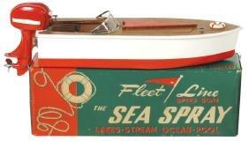 "Toy boat & motor, Fleet Line ""The Sea Spray"", in orig"
