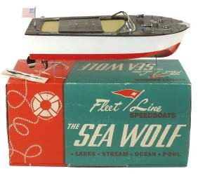 """Toy boat, Fleet Line """"The Sea Wolf"""", in orig box"""