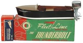"Toy boat, Fleet Line ""The Thunderbolt"" w/orig box/inst"
