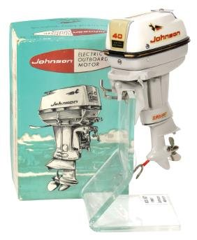 Toy boat motor, Fleet Line 1961 Johnson Super Sea-Horse