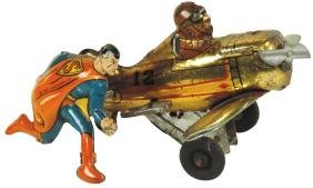 Toy, Superman Rollover Airplane, mfgd by Louis Marx,
