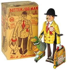 Toy w/box, The Butter & Egg Man, mfgd by Louis Marx,