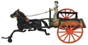Toy horse-drawn cart, Pratt & Letchworth dray cart,