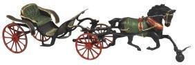 Toy horse-drawn cart, Pratt & Letchworth, no driver,
