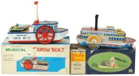 Toy boats (2), Gakken Toy musical show boat, litho on